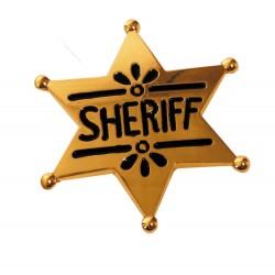 Etoile de sheriff metal or