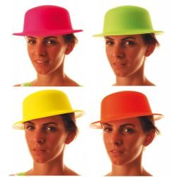 Chapeaux melon plastique fluo