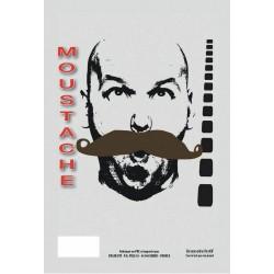 Moustache gendarme châtain