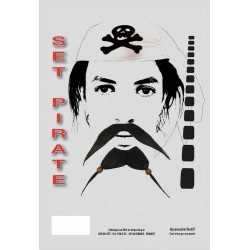 Set moustache pirate