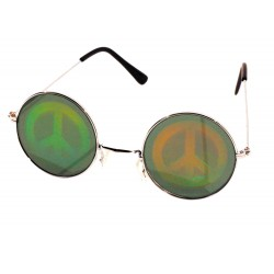 Lunettes hologramme peace & love