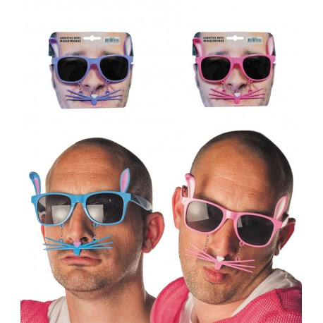 Lunettes lapin avec moustache