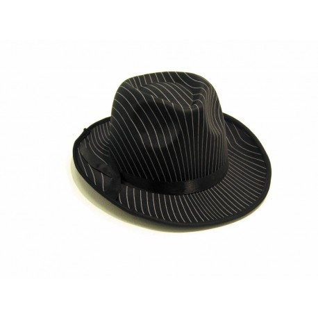 Borsalino tissu rayé noir