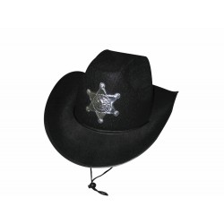 Chapeau sheriff luxe noire