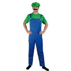Plombier vert et bleu