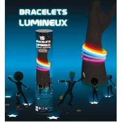 Tube 15 bracelets lumineux