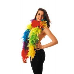 Boa multicolore en plumes