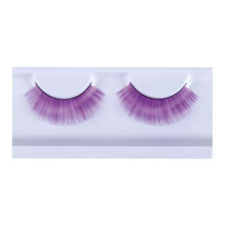 Faux-cils violet