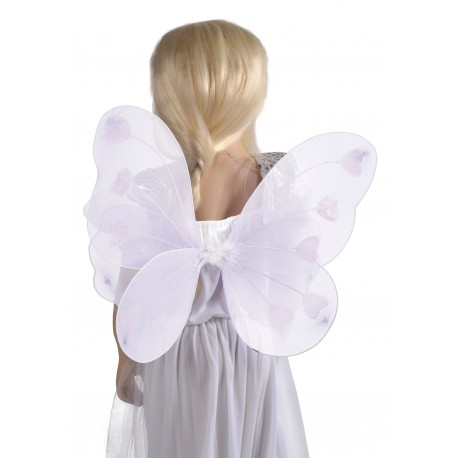 Ailes de papillon blanc