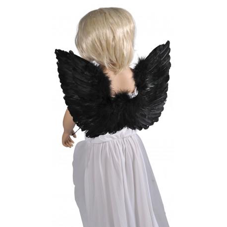 ailes d 39 ange en plumes noires 48 x 40 cm fete paris. Black Bedroom Furniture Sets. Home Design Ideas