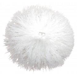 Pom pom plastique blanc