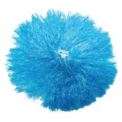 Pom pom plastique bleu