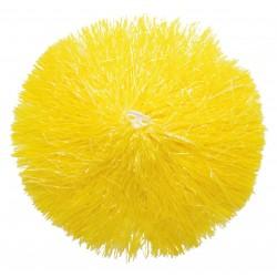 Pom pom plastique jaune