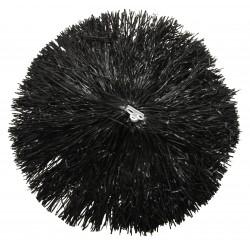 Pom pom plastique noir