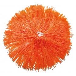 Pom pom plastique orange