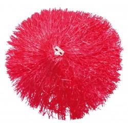 Pom pom plastique rouge