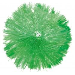 Pom pom plastique vert
