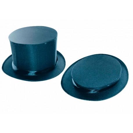 Chapeau haut de forme claque en tissu satiné