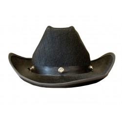 Chapeau de cow boy en feutre noir
