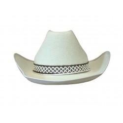 Chapeau de cow boy en feutre blanc