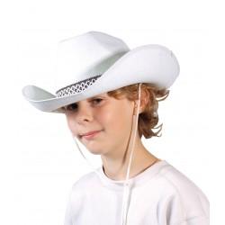Chapeau de cow boy en feutre blanc enfant