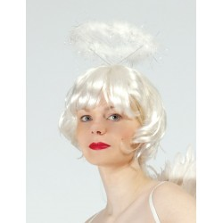 Serre-tête halo d'ange blanc