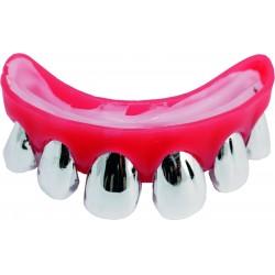 Dentier dents argentées