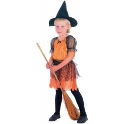 Baby sorcière orange