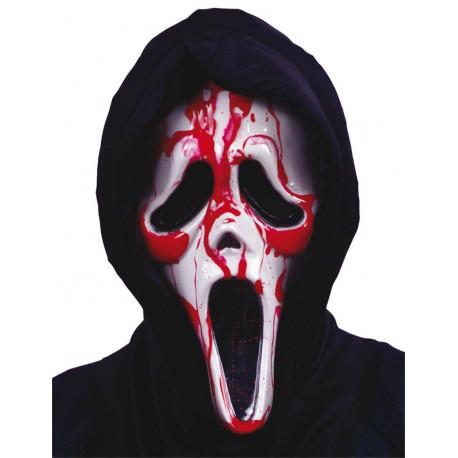 Masque Ghost Face avec pompe de sang