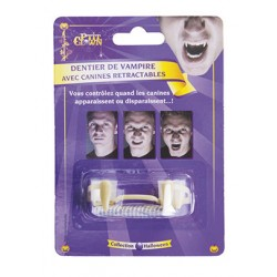 Dentier canines rétractables