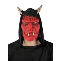 Masque de diable avec cagoule