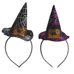 Serre-tête mini chapeau de sorcière