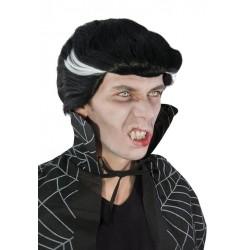 Perruque vampire noire et blanche