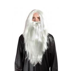 Perruque et barbe mage