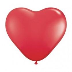 Ballon coeur opaque (15,2cm)