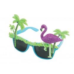lunettes flamant rose et palmier