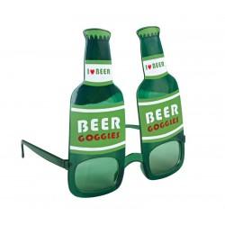 lunettes bouteille de bière verte