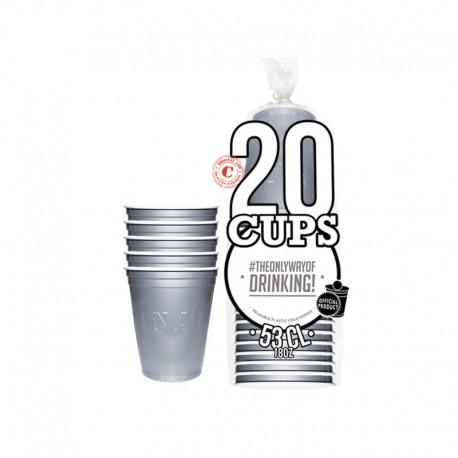 Original Cup gobelets argentés 53cl
