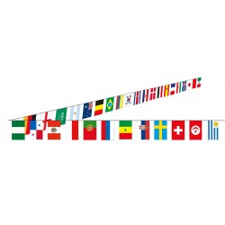 Guirlande tissu multi-pays
