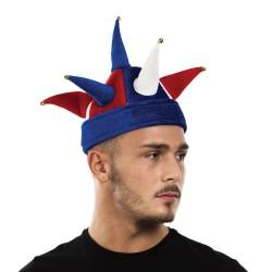 Chapeau velours tricolore
