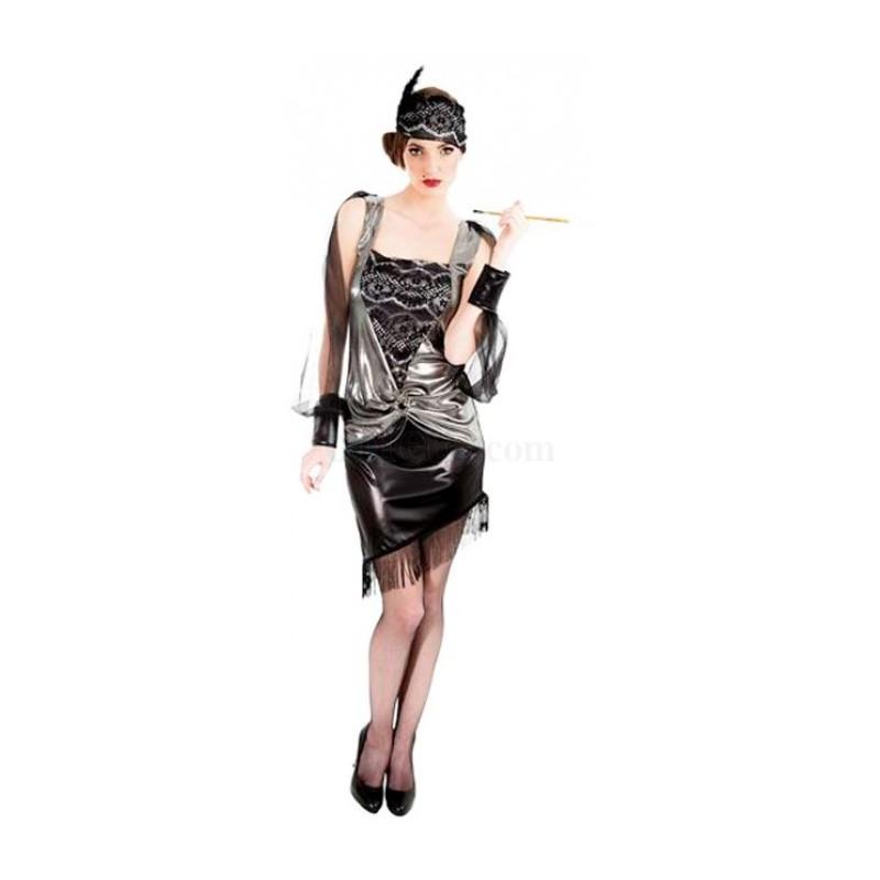 Robe charleston drapée